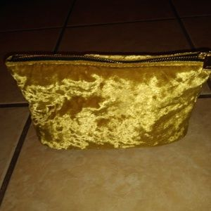 H&M Gold Velvet Make Up Bag